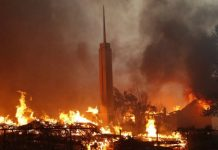fire in Paradise, California mormon