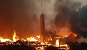 fire in Paradise, California mormon
