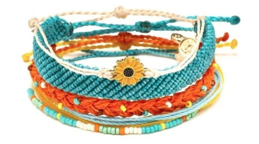 Pure Vida stacked bracelets