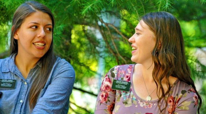Two Latter-day Saint sister missionaries