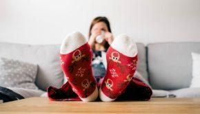christmas stockings table