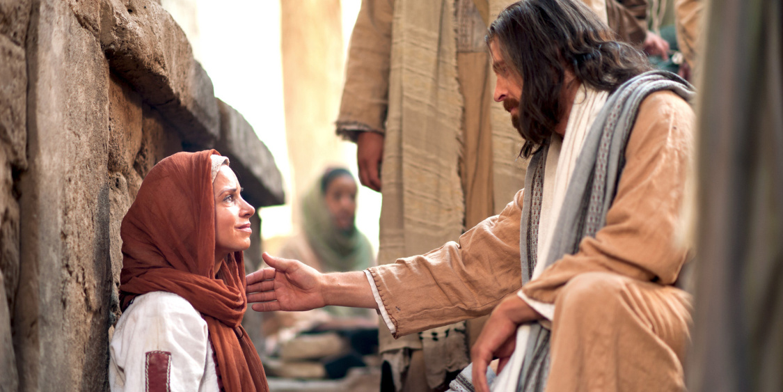 jesus heals woman of faith weakness made strong mormon