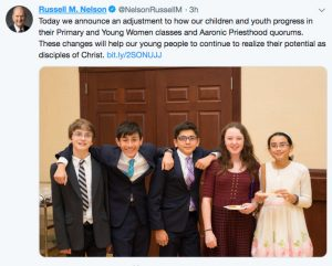 president-nelson-tweet-age-groups-change-children-youth-mormon