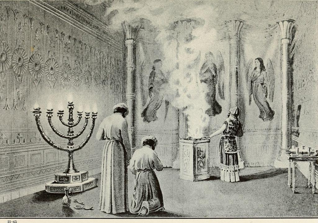 Israelite tabernacle sketch.