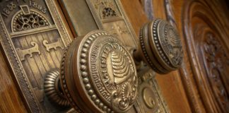 Doorknobs of the SLC Temple.