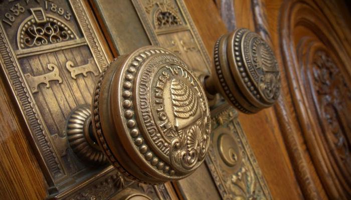 Doorknobs of the SLC Temple.