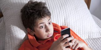 Mormon Apps to protect family from Pornography kid looking at phone