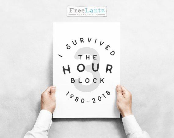 3 hour block