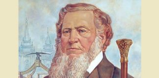 Painted portrait of Brigham Young