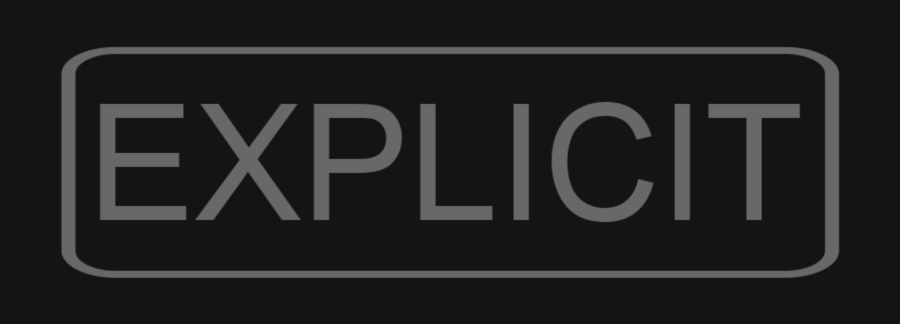 "Music tag, ""Explicit."""