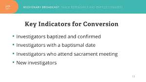 new Mormon missionary key indicators