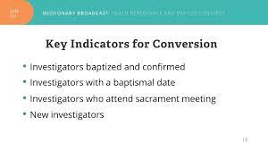 new Mormon missionary key indicators