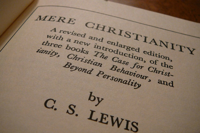 "Title page of ""Mere Christianity,"" by C. S. Lewis."