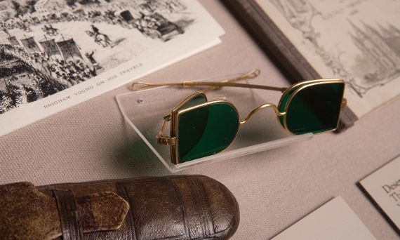 Brigham Young's sunglasses.