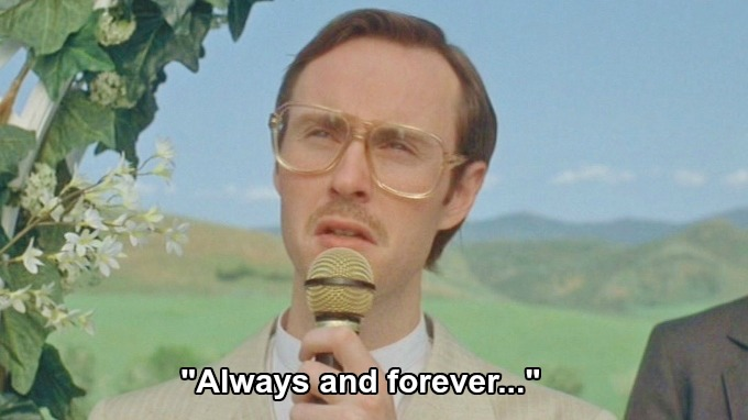 "Kip singing ""Always and forever..."" Mormon"