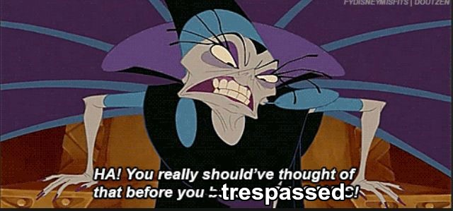 "Yzma saying, ""You should have thought of that before you trespassed."" Mormon"