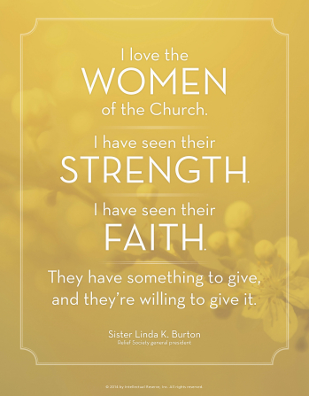 women have faith and strength mormon quote