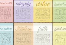 mormon yw values