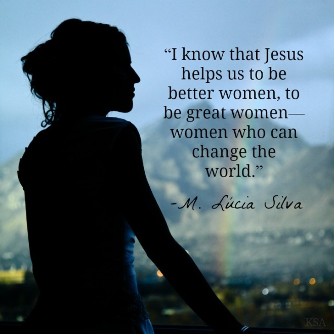 women can change the world mormon quote
