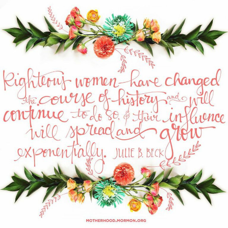 women have changed the course of history mormon quote