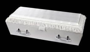 White baby casket