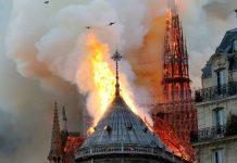 Notre Dame de Paris in flames