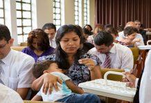 Sacrament meeting in Brazil