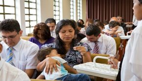 Sacrament meeting in Brazil