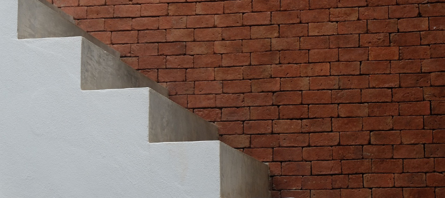 Stairs representing levels of faith.