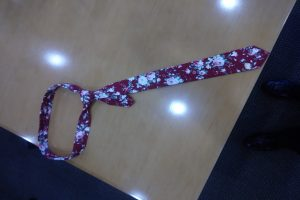 Fashionable floral tie