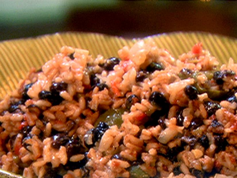 black beans and rice plate