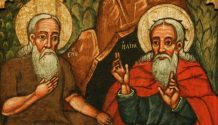 Painting of Enoch and Elijah.