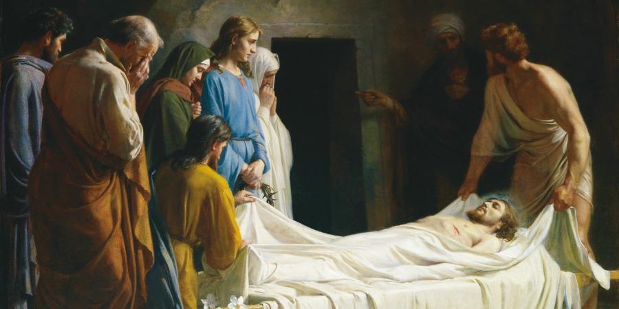 Jesus Christ's burial, representing apostasy.