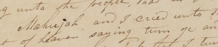 Manuscript text about Enoch.