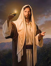 Christ with light