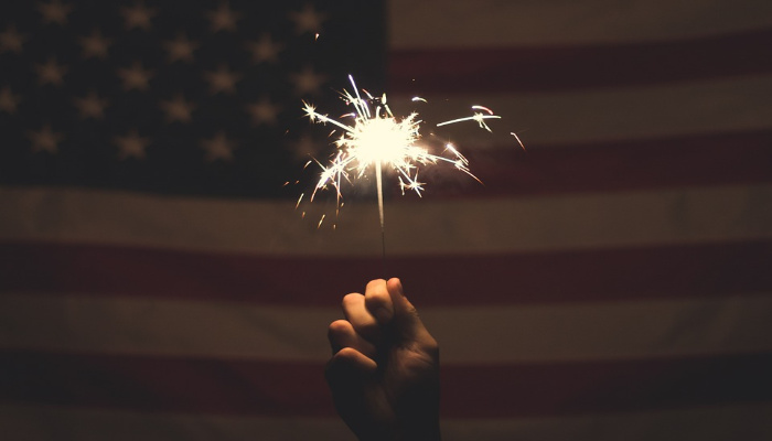 American Flag Sparkler