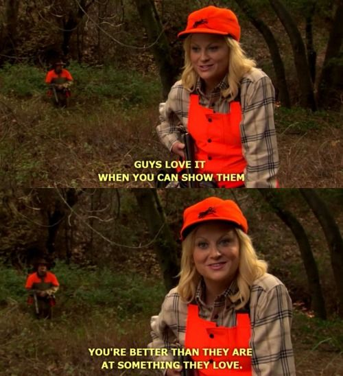 leslie knope parks and rec hunting
