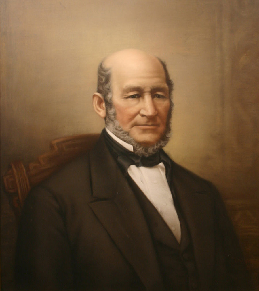 Portrait of Heber C. Kimball, an early Mormon leader.