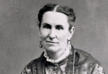 Portrait of Helen Mar Kimball, a Mormon woman.