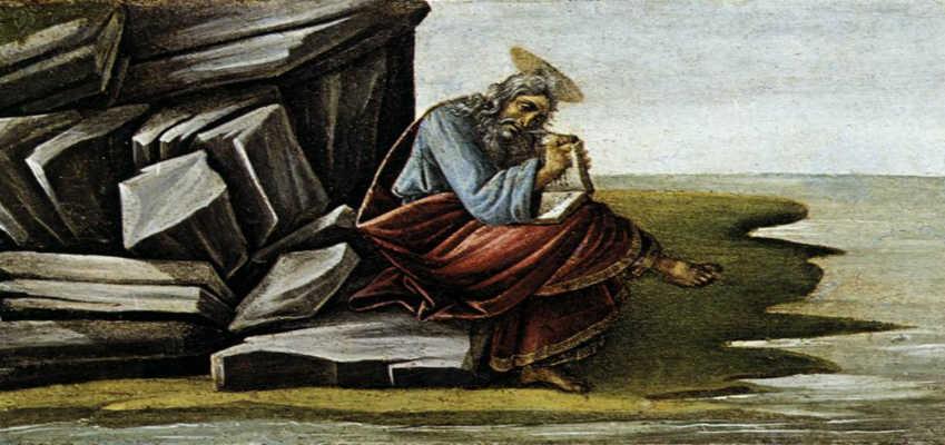 John on Patmos by Botticelli