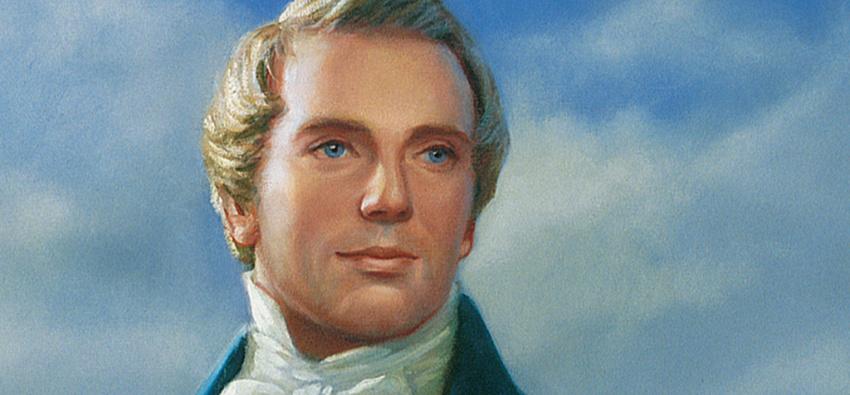 Joseph Smith painting, Mormon prophet.