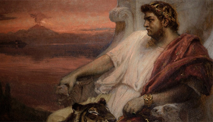 Nero on his throne