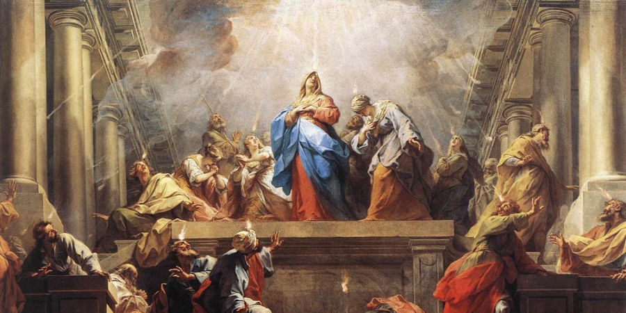 Painting of the Pentecost.