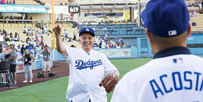 Elder Andersen first pitch