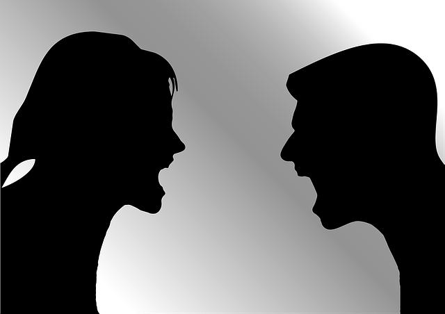 shouting, arguing