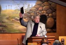 Baptist minister preaching about The Book of Mormon.
