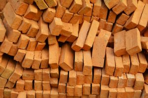 baked bricks, pile of bricks