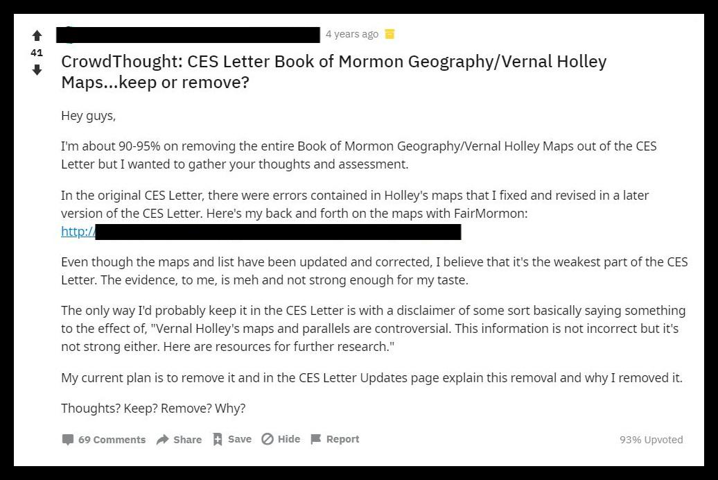 CES Letter post. anti-Mormon text