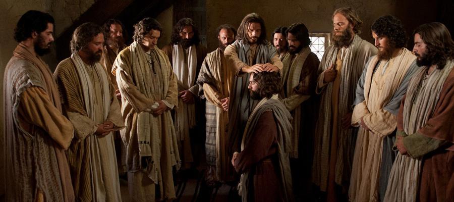 Jesus Christ ordaining apostles.