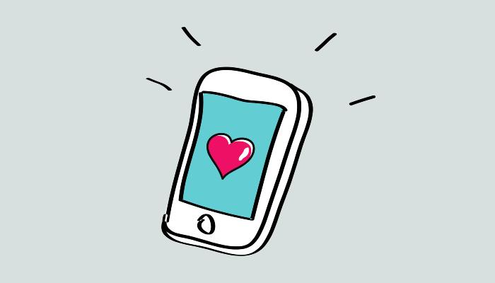 Cell phone illustration.